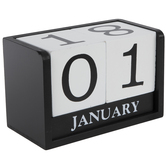 Black & White Wood Calendar Blocks