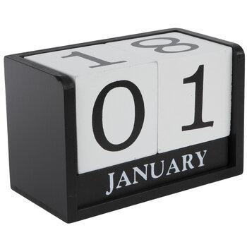 Black & White Wood Calendar Blocks