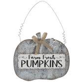 Farm Fresh Pumpkins Galvanized Metal Ornament