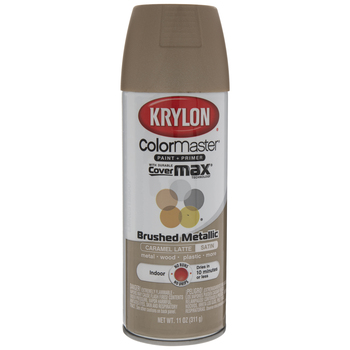 Krylon ColorMaster Brushed Metallic Spray Paint & Primer