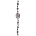 Black & Gray Mix Dyed Agate & Crystal Bead Strand