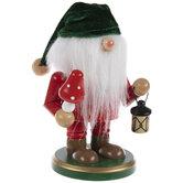 Green & Red Gnome Wood Nutcracker