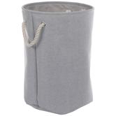 Gray Round Laundry Hamper