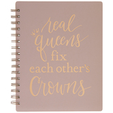 Real Queens Spiral Notebook