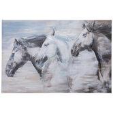 Embellished Horses Canvas Wall Decor