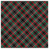 "Christmas Plaid Scrapbook Paper - 12"" x 12"""