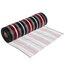 Red, Black & White Striped Metallic Deco Mesh Ribbon - 10