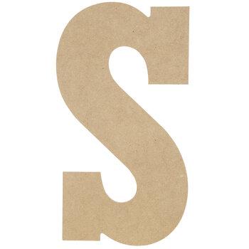 "Wood Letter S - 13"""