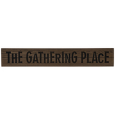 The Gathering Place Wood Wall Decor