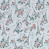 Glitter Eiffel Tower Apparel Fabric
