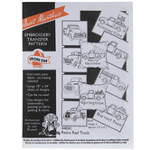 Retro Red Truck Embroidery Transfer Sheet