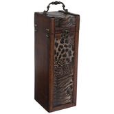 Animal Print Wood Trunk Box
