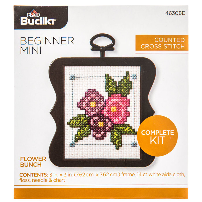 Enjoy Life Stamped Cross Stitch Kit Printed Patterns For Beginners Kids 14CT