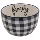 Family Black & White Buffalo Check Bowl