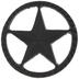 Star Metal Knob
