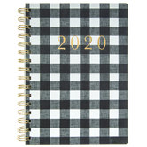 Black & White Buffalo Check Planner