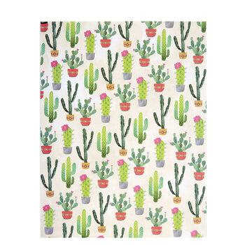 "Watercolor Cactus Scrapbook Paper - 8 1/2"" x 11"""
