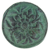 Turquoise Distressed Metal Knob