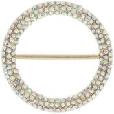 Round Scarf Ring With Rhinestones