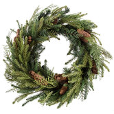 Pine & Cedar Wreath With Pinecones