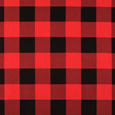 Red & Black Buffalo Check Duck Cloth Fabric