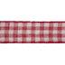 Red & Cream Plaid Burlap Ribbon - 3