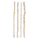 Beige Dyed Bone Bead Strands