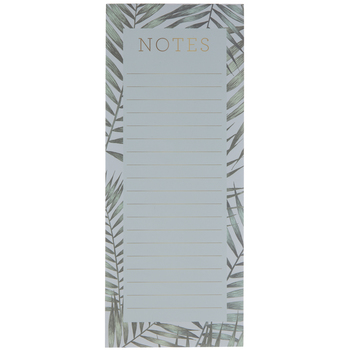 Blue & Green Leaves Magnetic Notepad