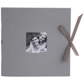 "Gray & Rose Gold Polka Dot Scrapbook Album - 8"" x 8"""