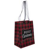 Merry Christmas Buffalo Check Gift Bag