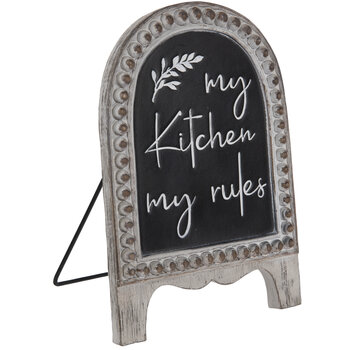 My Kitchen My Rules Easel Decor