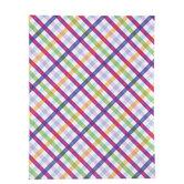"Bright Plaid Scrapbook Paper - 8 1/2"" x 11"""