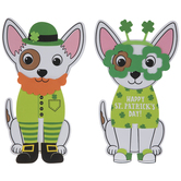 Four-Leaf Clover Dogs Foam Craft Kit