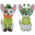 Four-Leaf Clover Dogs Foam Craft Kit
