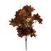 Rust Maple Leaf & Berry Bush