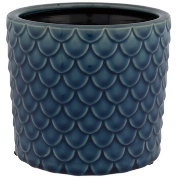 Turquoise Fish Scale Pot