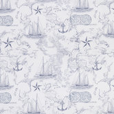 Nautical Map Apparel Fabric