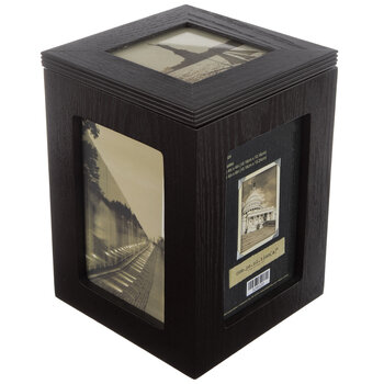 Photo Storage Box Wood Collage Frame