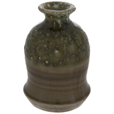 Green & Gray Mottled Vase