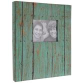 "Turquoise Wood Print Post Bound Album - 8 1/2"" x 11"""