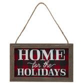 Home For The Holidays Buffalo Check Ornament