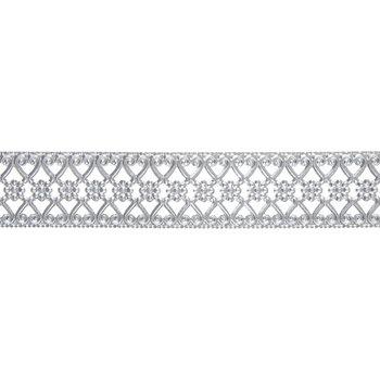 "Flower Scroll Metal Ribbon - 1 3/16"""