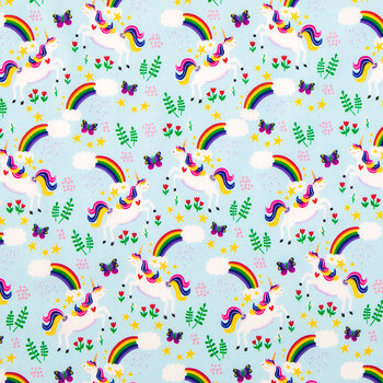 Over The Rainbow Cotton Calico Fabric