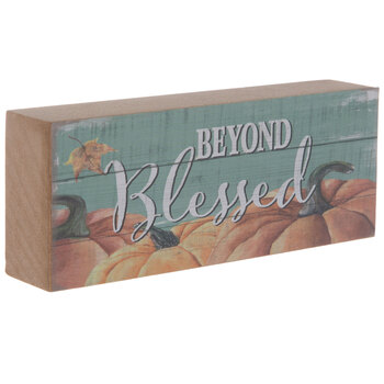 Beyond Blessed Pumpkin Wood Decor