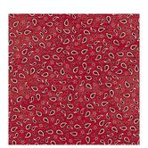 "Red Bandana Scrapbook Paper - 12"" x 12"""