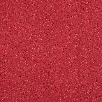 Red Confetti Dot Cotton Calico Fabric