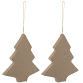 Paper Mache Christmas Tree Ornaments