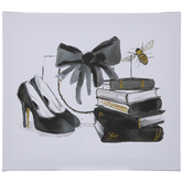 Black & Gold Bee Accessories Canvas Wall Decor