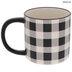 Black & White Buffalo Check Mug