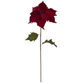 Red Velvet Poinsettia Stem